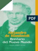 Alejandro de Humboldt Breviario Del Nuevo Mundo