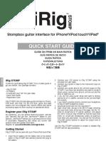 IRig Stomp Start Guide