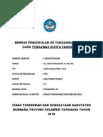 Berkas Pengusulan Sk Tunjangan Profesi Guru Pengawas Kuota Tahun 2018