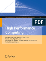 (Communications in Computer and Information Science 796) Esteban Mocskos,Sergio Nesmachnow (Eds.)- High Performance Computing_ 4th Latin American Conference, CARLA 2017, Buenos Aires, Argentina, And C