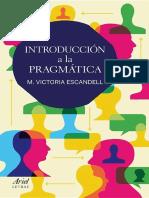Introduccion a La Pragmatica - M. Victoria Escandell