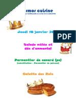 galette des rois - janvier 2019