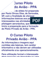 O Curso Piloto Privado Avião - PPA