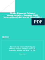 Dhaka Ial Venue Details - January 2019