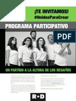 Programa Unidas Para Crear - Directiva RD 2019-2020