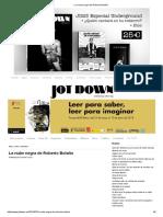 LaNube Negra de Roberto Bolaño