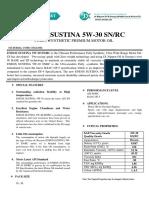 Eneos Sustina Product Data Sheet 2016