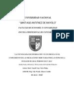 Las Tecnologias de Informacion y Su Incidencia en El Cumplimiento de Las Obligaciones Tributarias, Periodo 2013-2014
