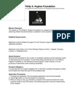 PAH Scholarship Application 2019