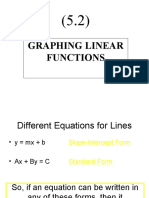 (5.2) Graphing Linear Functions