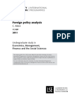 IR2137 Foreign Policy Analysis