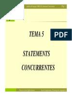 Tema 5. Statements Concurrentes