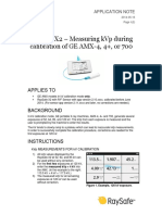 Application Note - RaySafe X2 - Measuring kVp During Calibration of an AMX 4  4+ or 700
