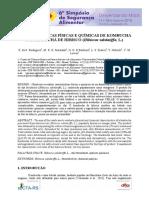 Características Físicas e Química da Kombucha
