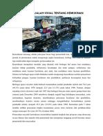 Artikel Masalah Sosial Tentang Kemiskinan