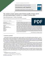McCarthy-Jones, Fernyhough - 2011 - The varieties of inner speech Links between quality of inner speech and psychopathological variables.pdf