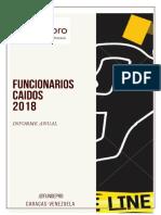 Informe Funcionarios Caídos 2018