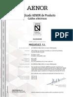 Afirenas-x Rz1-k(as) Iec y Une Certificado Aenor