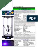 Ficha Tecnica Impresora 3d Anet t1 Plus
