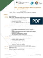"""Programa encuentro internacional """"Lecciones para México"""