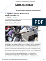 A Logística Reversa de Resíduos Eletroeletrônicos – Revista AdNormas