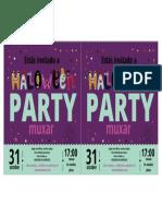 Invitación Halloween 2