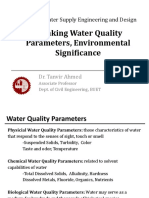 CE6315_Water Quality Parameters - Significance - Standards