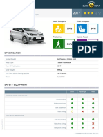 Euroncap 2017 Kia Picanto Datasheet