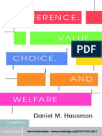 Hausman, D - Preference, Value, Choice, And Welfare