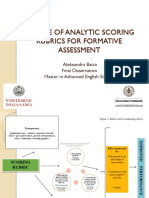 Analytic Scoring Rubrics for Formative Assessment