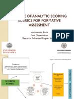 Analytic Scoring Rubrics for Formative Assessment