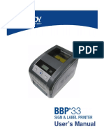 BBP33 Printer User Manual US
