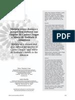 Malária Como Doença e Perspectiva Cultural Nas Viagens de Carlos Chagas e Mário de Andrade à Amazônia