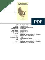 John Caputo _ Mystical in Heidegger
