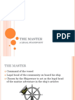 the MASTER - A Legal Standpoint