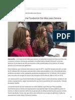 10-12-2018 Rinde tercer informe Fundación Dar Más para Sonora - Uniradio