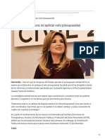10-12-2018 Espera Gobernadora No Aplicar Veto Presupuestal - Uniradio