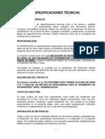 Especificaciones Tecnicas Tanque Challapata.
