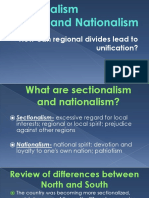 sectionalism and nationalism  1