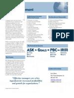 Management Development Deliverables