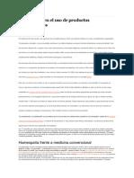 Estadisticas en El Uso de Productos Homeopáticos