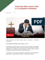 Cinco argumentos que debes conocer sobre la recusación a Concepción Carhuancho