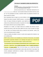 Los tres paradigmas de salud y nacimiento desde una perspectiva femenina. Conferencias Mujer y Género. Asociación de Matronas Españolas.