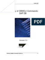 Dbmcli Commands