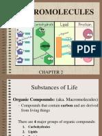 unit 2 - chapter 2 - macromolecules notes