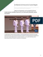 12-12-2018 Se dio el cambio de Mando de Armas de la Cuarta Región Naval - TVPacifico