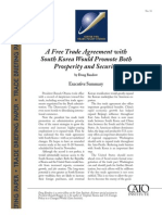 A Free Trade Agreement with South Korea Would Promote Both Prosperity and Security, Cato Trade Briefing Paper No. 31