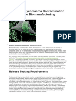 Real-time Mycoplasma Contamination Detection for Biomanufacturing