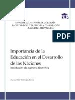Importancia de La Educación en El Desarrollo de Las Naciones