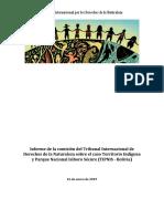 Informe de la comisión del Tribunal Internacional de Derechos de la Naturaleza sobre el caso Territorio Indígena y Parque Nacional Isiboro Sécure (TIPNIS – Bolivia)